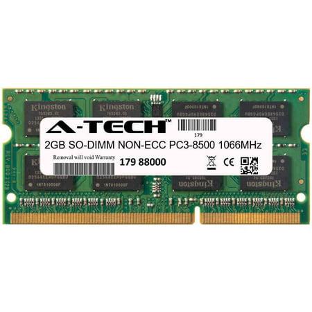 2GB Module PC3-8500 1066MHz NON-ECC DDR3 SO-DIMM Laptop 204-pin Memory (1066 Mhz Ddr3 Notebook Memory)