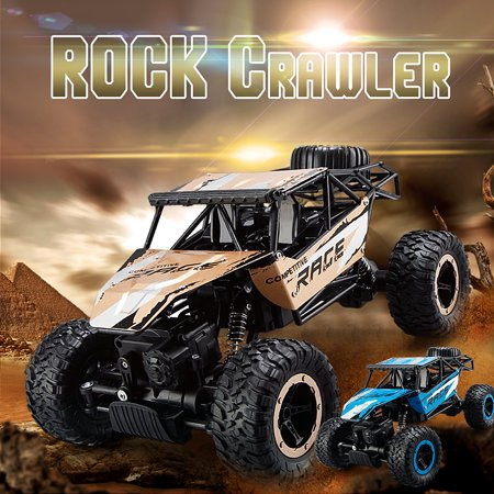 Gold/Blue 2.4G 1:14 Fast Race Cars Four-Wheel Drive Car Electric Remote Control Off-Road Vehicle