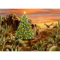 LPG Greetings Desert Glow Box of 18 Western Christmas Cards
