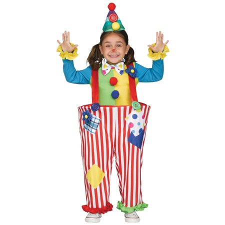Crazy Hatter Costume (CRAZY CLOWN TODDLER XL)
