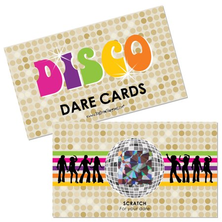 70's Disco - 1970's Disco Fever Party Scratch Off Dare Cards - 22 - 1970 Disco Fashion