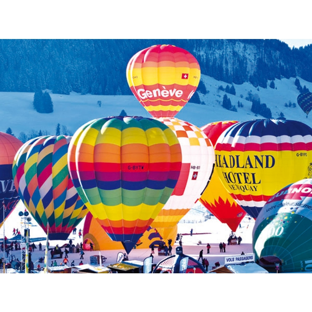 Hot Air Balloons Switzerland 500 Piece Puzzle,  Landscapes by LPF Limited