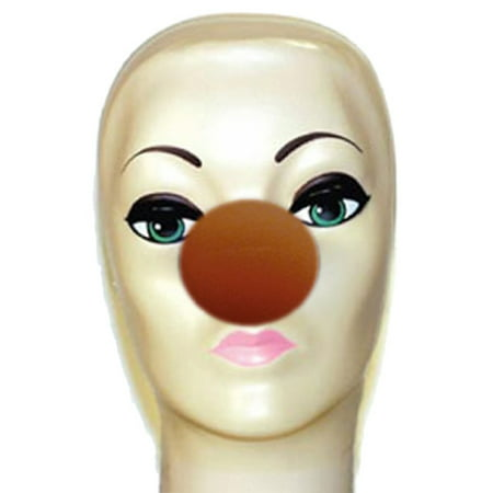 Magic By Gosh Brown Foam Clown Nose - Latex Clown Nose
