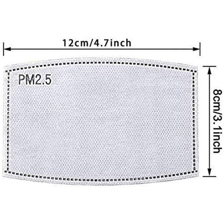 Mask filter PM2.5 filter 5-layer protective filter activated carbon mask filter 50pcs - image 3 of 7