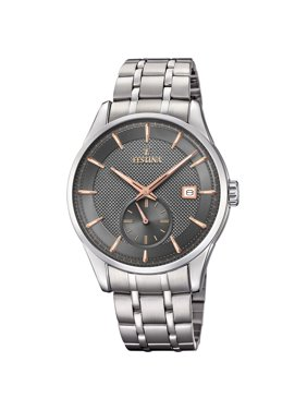 Festina F20276-3 Mens Retro Gray Dial Stainless Steel 41mm Watch