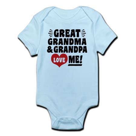 CafePress - Great Grandma And Grandpa Love Me Infant Bodysuit - Baby Light - Gramma And Grandpa
