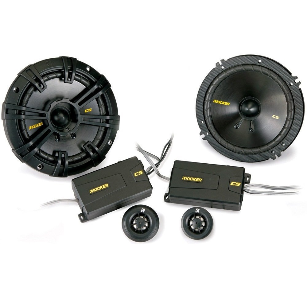 "Kicker 40CSS654 CSS65 6.5"" 6-1/2"" 300 Watt 4-Ohm Car Audio Component Speakers CSS654"