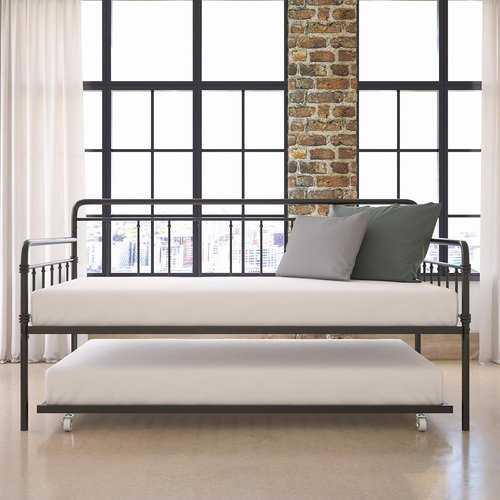 Gracie Oaks Truxton Twin Day Bed with Trundle by