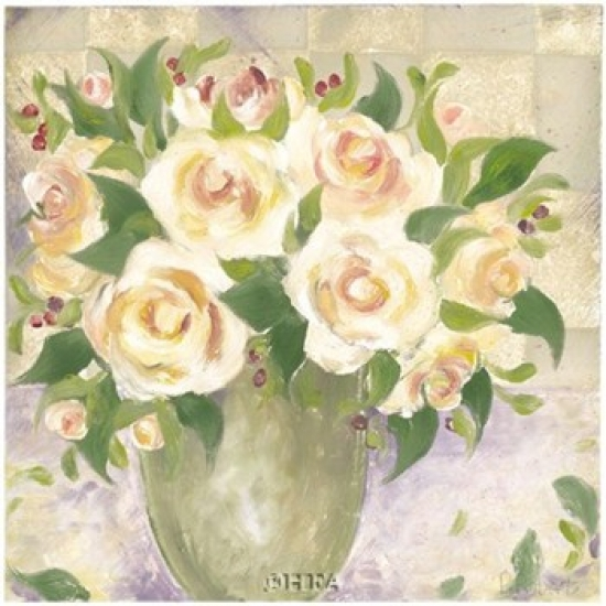 Berries & Roses I Poster Print by Patricia Roberts (18 x 18)