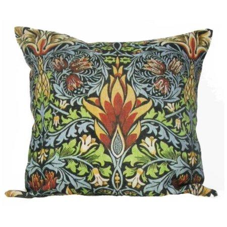 """William Morris Antique Pineapple Design Decorative Accent Throw Pillow with Insert 18"""""""