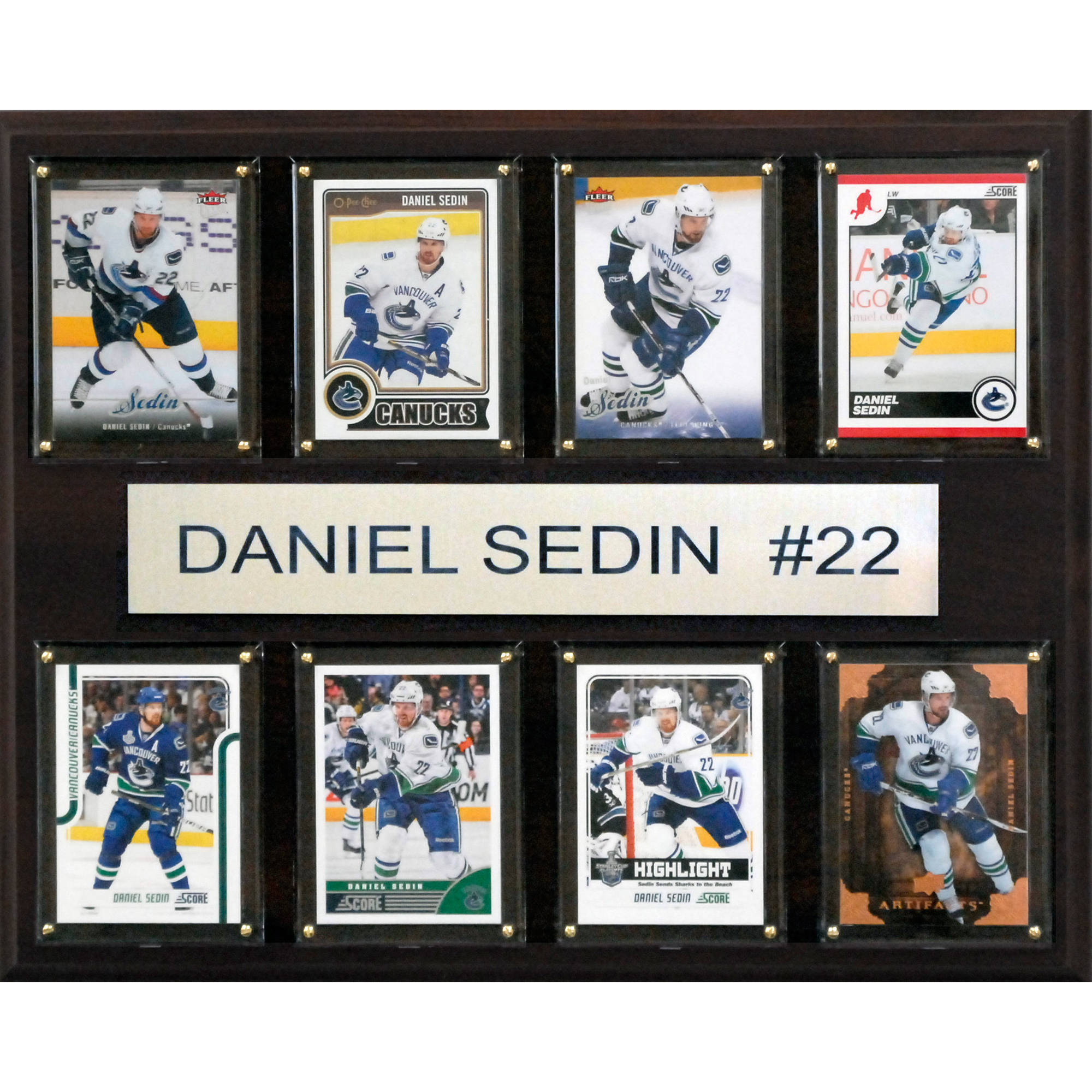 C&I Collectables NHL 12x15 Daniel Sedin Vancouver Canucks 8-Card Plaque