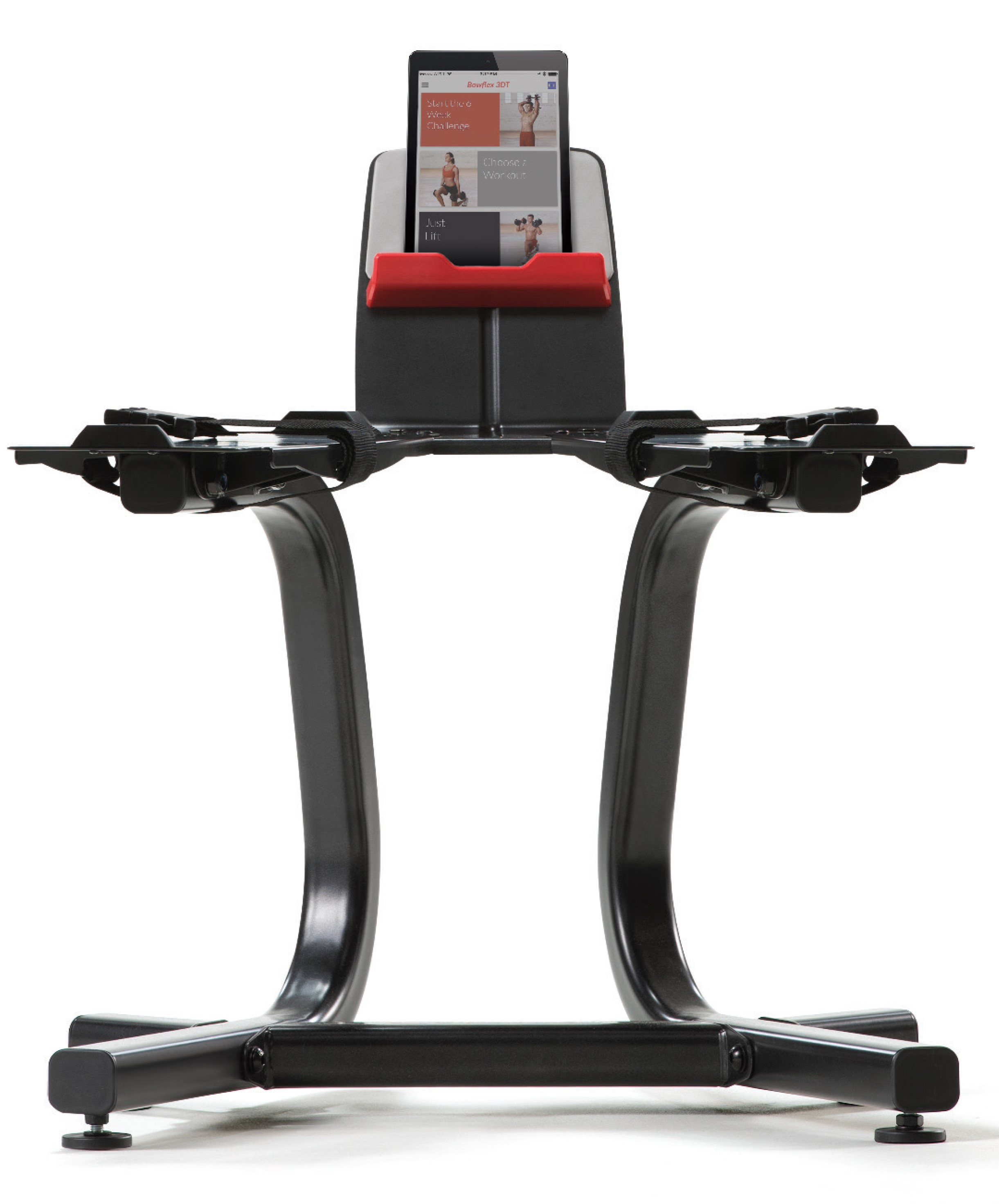 Bowflex SelectTech Stand with Large Media Rack for Free SelectTech App by Nautilus