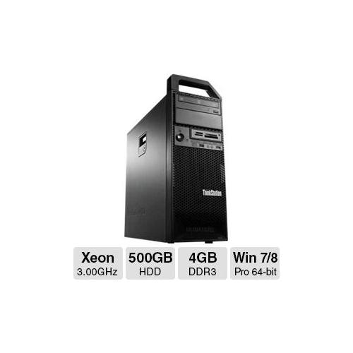 Lenovo ThinkStation S30 Workstation PC - Intel Xeon E5-1607V2 3.00GHz, 4GB DDR3 Memory, 500GB HDD, DVDRW, 1GB NVIDIA Qua