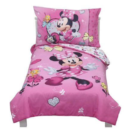 Mickey Mouse & Friends Minnie Mouse Toddler 4pc Bedding Sets ( TODDLER BEDDING ONLY )