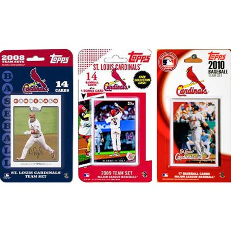 C&I Collectibles MLB St. Louis Cardinals 3 Different Licensed Trading Card Team Sets (Platinum Mlb Collectibles)