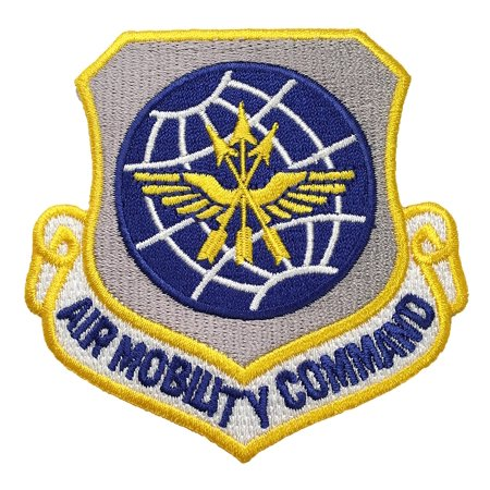 USAF Air Mobility Command Patch 2875 Tall By Wide