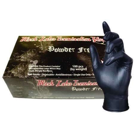 Skintx Medical Grade Latex Disposable Gloves, BLK90005-S-BX, Black, (Pack of 100)](Halloween Crafts Gloves Latex Plastic)