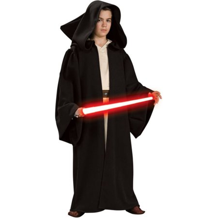 Morris Costumes Boys Dark Star Wars Full Sleeves Hooded Sith Robe, Style RU16221LG - Sith Robes For Sale