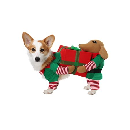 Santa's Little Helper Costume for Dogs](Cute Little Dog Costumes)