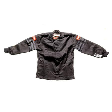 RACEQUIP/SAFEQUIP 1969993 Driving Jackets Black Jacket Kids Single Layer Medium Black Trim ()