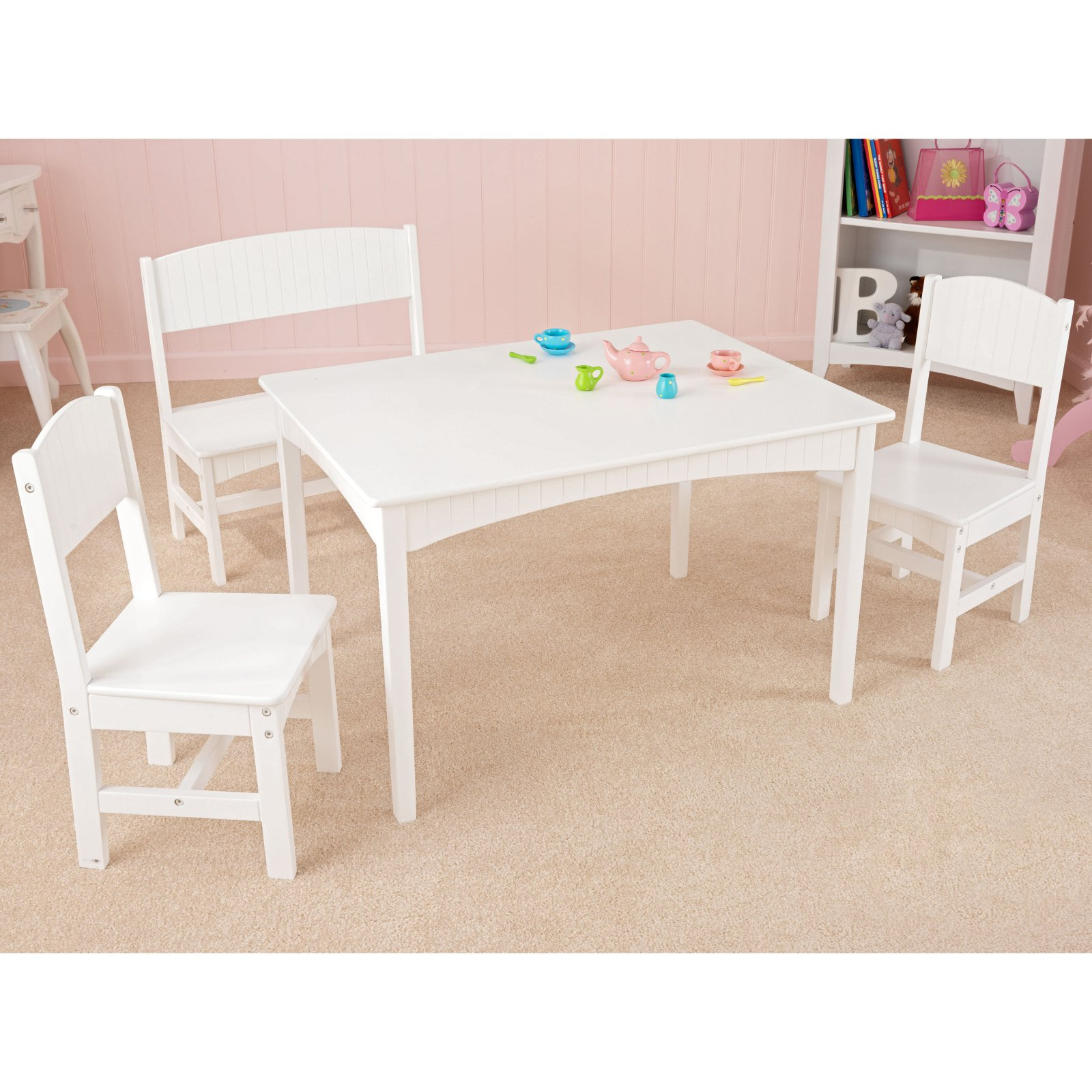 KidKraft Nantucket Kids 4 Piece Table and Chair Set  sc 1 st  Walmart & KidKraft Aspen Table u0026 2 Chair Set Multiple Colors - Walmart.com