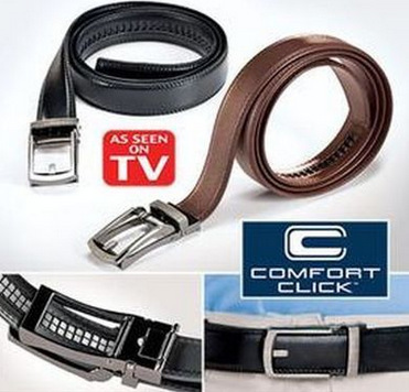 As Seen On TV New Comfort Click Belt Leather Belt Zip Tie for Men Fits 28 to 48/""