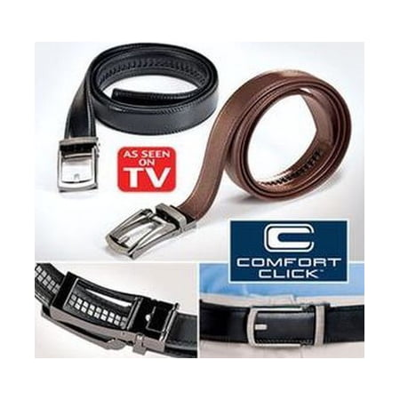 Costyle New Style Comfort Click Belt Men Automatic Adjustable Leather Belts As Seen On TV,Black (Mens Back Belt)