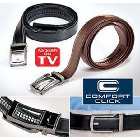 Costyle New Style Comfort Click Belt Men Automatic Adjustable Leather Belts As Seen On TV,Black Alligator Print Leather Belt