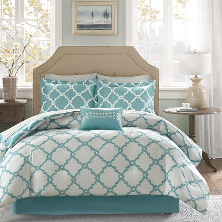 Empire Home Turquoise Galaxy Oversized Comforter Set Soft 10 Piece