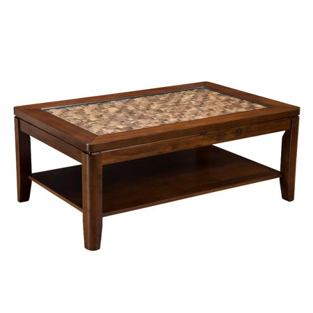 30 X 30 Square Coffee Table.Benzara Bm171819 19 X 30 X 48 In Wooden Coffee Table With Glass Insert Brown