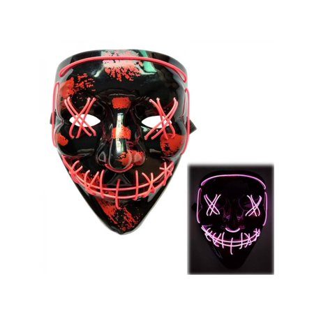 Scary Masks Australia (MarinaVida Cosplay LED Costume Wire Light Up Fluorescent Mask Halloween Scary)