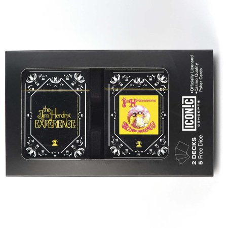 Jimi Hendrix Double Deck Playing Card Set with - Dice Playing Cards