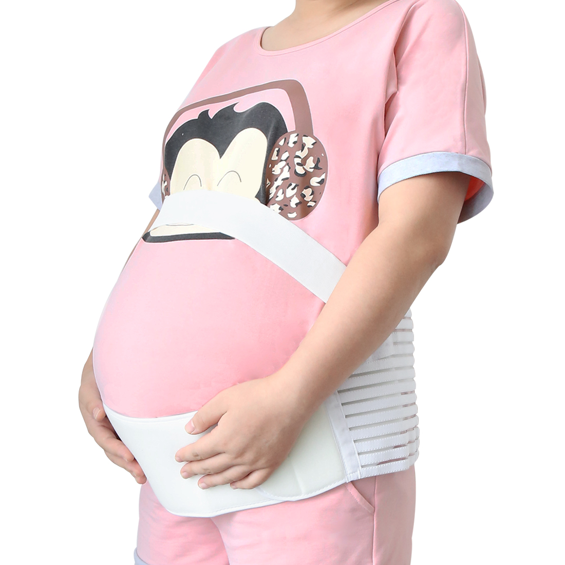 Tasharina M White Pregnancy Maternity Support Belt Waist Back Abdomen Belly Brace Band