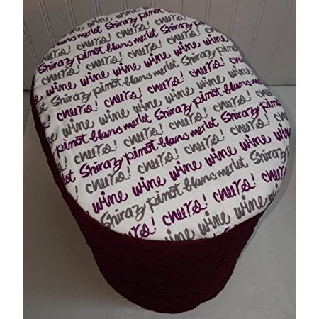 Quilted Cheers  To Wine Cover For Keurig K2 0 K200 250 Coffee Brewing System  Burgunfy