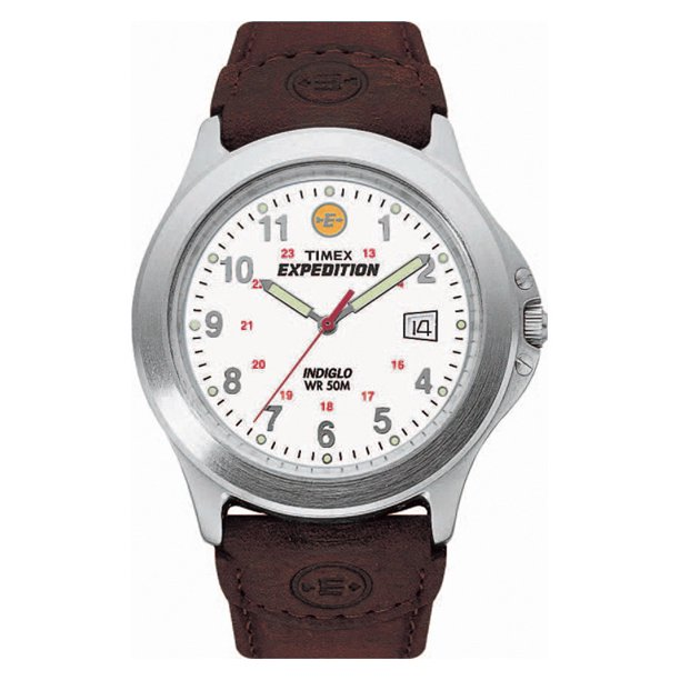 Men's Expedition Metal Field Watch, Brown Leather Strap