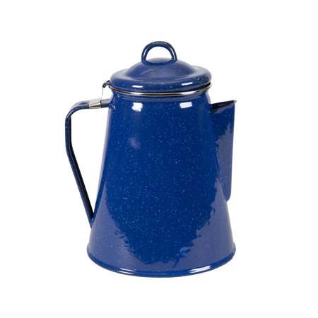 - Stansport Enamel Coffee Pot - 8 Cup Perc With Basket