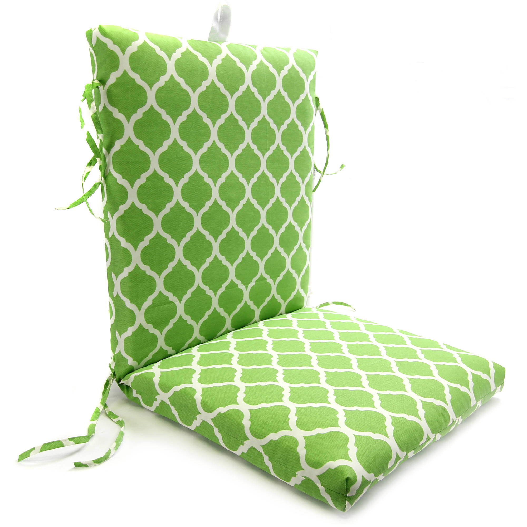 Mainstays Chair Cushion, Green Trellis   Walmart.com