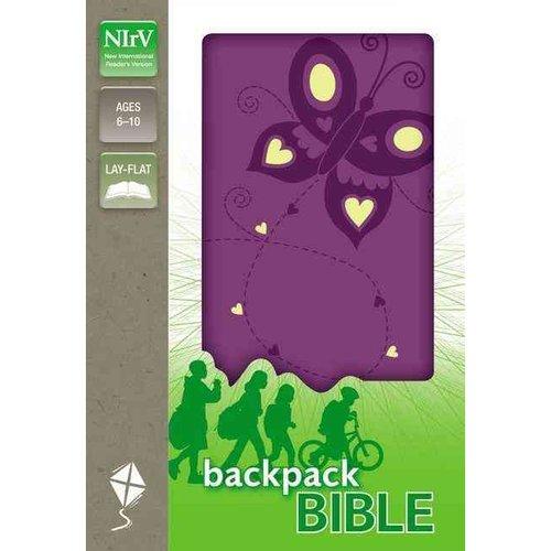 NIRV Backpack Bible: New International Reader's Version, Flutter Purple, Italian Duo-Tone