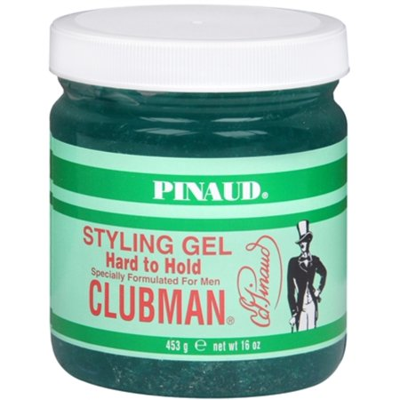Hard Hold Styling Gel (Pinaud Clubman Styling Gel Hard To Hold 16 oz (Pack of 6) )
