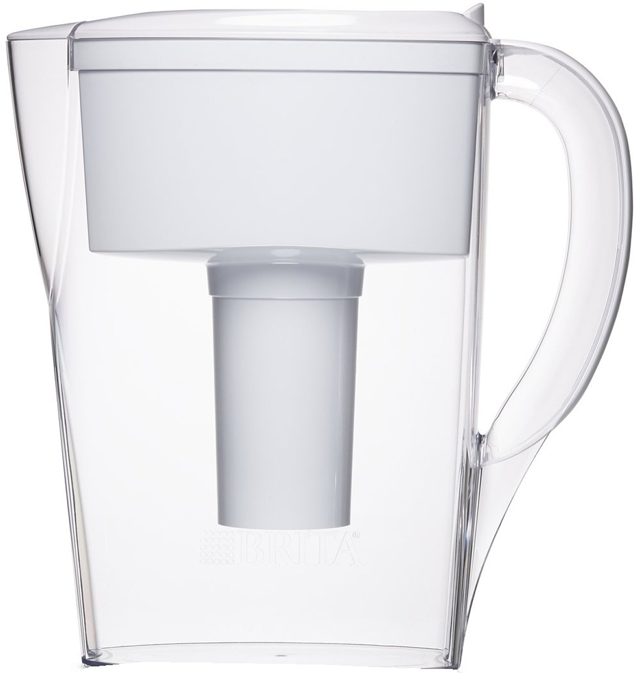 Brita 6 Cup Space Saver BPA Free Water Pitcher with 1 Filter, White