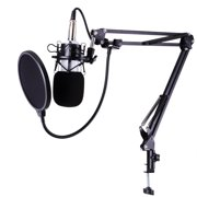 BM-700 Studio Recording Condenser Microphone & NB-35 Adjustable Arm Stand & Shock Mount & Pop Filter
