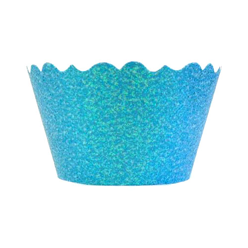 Bella Cupcake Couture Cupcake Wrappers - Glitter - Blue