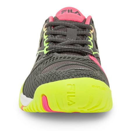 b1acef5b7221 Fila - fila women s cage delirium tennis shoe (dark shadow safety yellow knockout  pink) (9.5 b(m) us) - Walmart.com