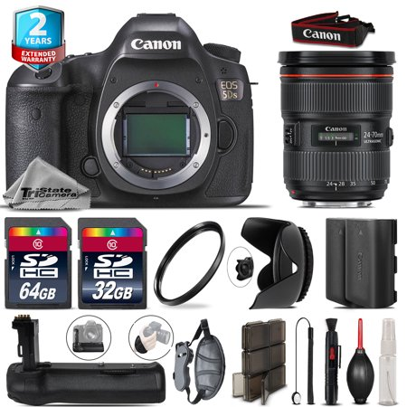 Canon EOS 5DS DSLR + 24-70mm 2.8L II + Battery Grip + Extra Battery - 96GB (Canon 24 70 2-8 Vs 24 70 F4)