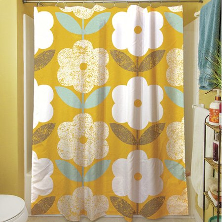 Manual Woodworkers & Weavers Jar of Sunshine Vintage Blossoms Shower Curtain