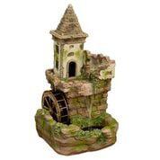 Alpine Corporation Outdoor Fairy Castle Waterwheel Tiered Fountain