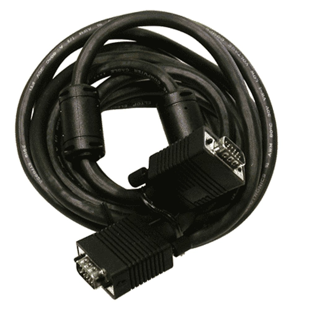 Vanco High Resolution S-vga Cable - Vga For Monitor, Tv, Video Device - 35 Ft - 1 X Hd-15 Male Vga - 1 X Hd-15 Male Vga - Shielding - Black (vga-vga-35x)