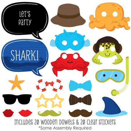 Under The Sea Critters - Photo Booth Props Kit - 20 Count - Under The Sea Quinceanera Ideas