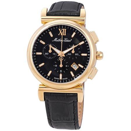 Mathey-Tissot Elegance Chronograph Black Dial Men's Watch H410CHPLN (Elegant Chronograph)