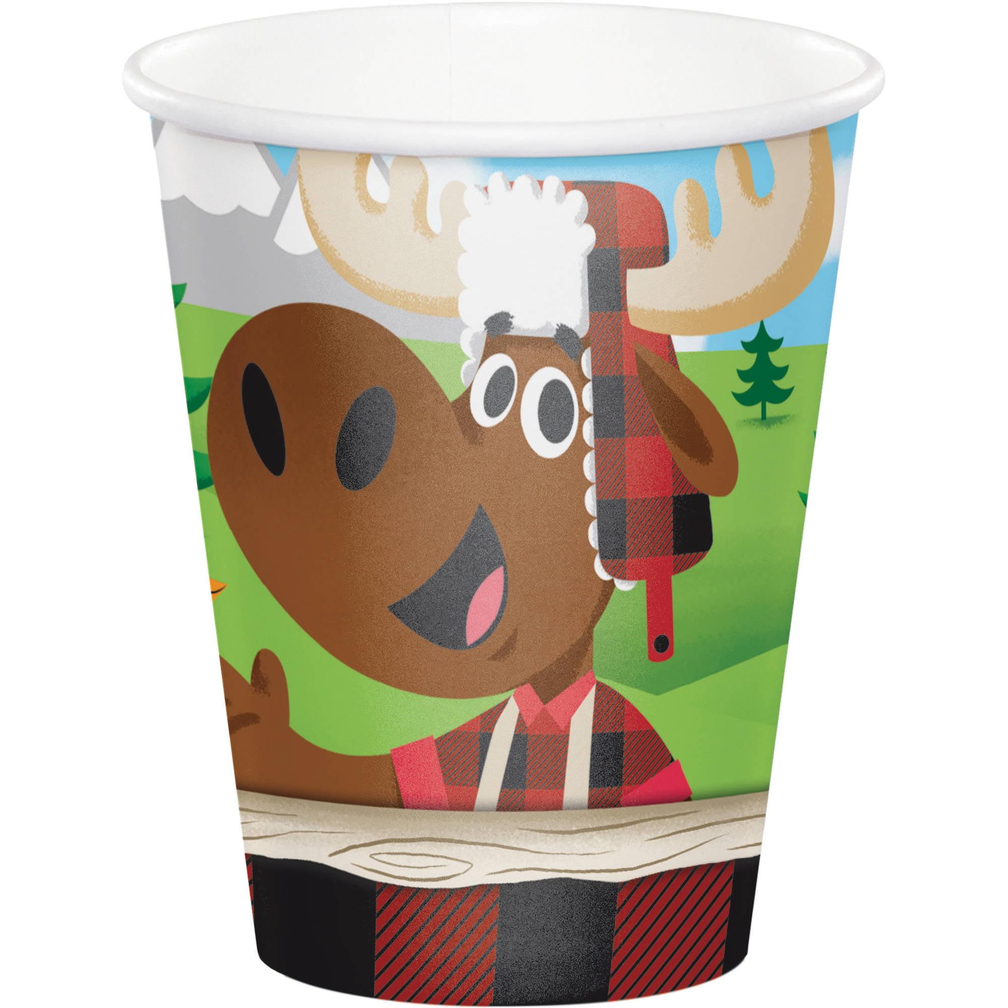 Lum-Bear-Jack Cups, 8-Pack